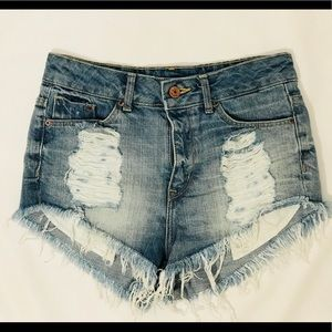 NWOT! Divided Denim CutOffs From H&M Seoul, Korea